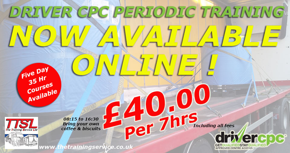 Driver CPC courses in Burnley just £50.00